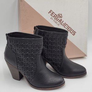 Fergalicious Black Ankle Booties - NIB